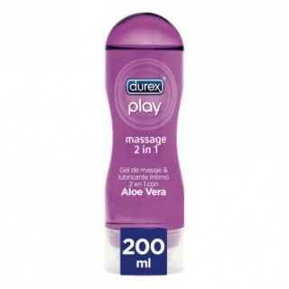 DUREX PLAY GEL DE MASAJE 2 EN 1 ALOE VERA 200 ML
