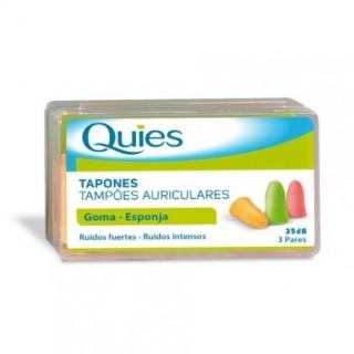 QUIES TAPONES OIDOS ESPUMA COLORES 6 UNIDADES