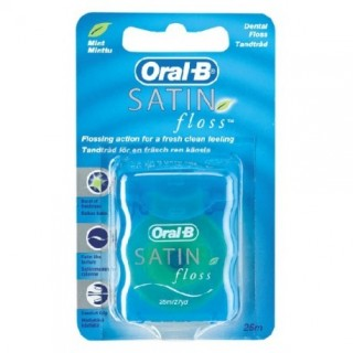 ORAL-B SEDA DENTAL SATIN FLOSS CON CERA 25 M