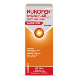 NUROFEN PEDIATRICO 40 mg/ml SUSPENSION ORAL 1 FRASCO 150 ml (SABOR FRESA)