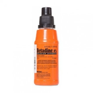 BETADINE 40 MG/ML SOLUCION TOPICA JABONOSA 125 ML