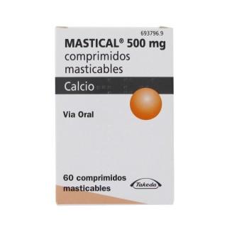 MASTICAL 1250 MG (500 MG CA) 60 COMPRIMIDOS MASTICABLES