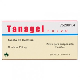 TANAGEL 250 mg 20 SOBRES POLVO PARA SUSPENSION ORAL