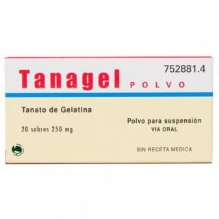 TANAGEL 250 mg 20 SOBRES POLVO PARA SUSPENSION ORAL