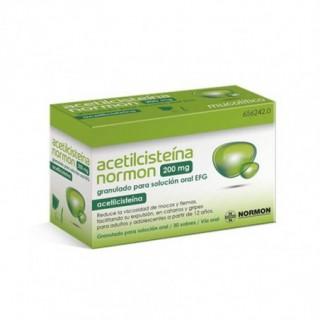 ACETILCISTEINA NORMON EFG 200 mg 30 SOBRES GRANULADO PARA SOLUCION ORAL