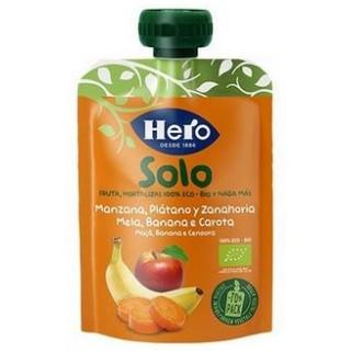 HERO BABY BOLSITA SOLO MANZANA PLATANO Y ZANAHORIA 100 G