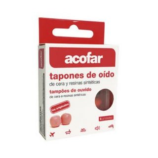 ACOFAR TAPONES OIDOS CERA 6 U
