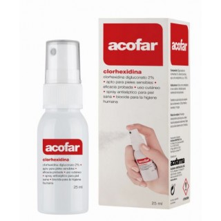 ACOFAR CLORHEXIDINA DIGLUCONATO 2 % SPRAY 25 ML