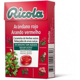 RICOLA CARAMELO ARANDANO ROJO SIN AZUCAR 50 G