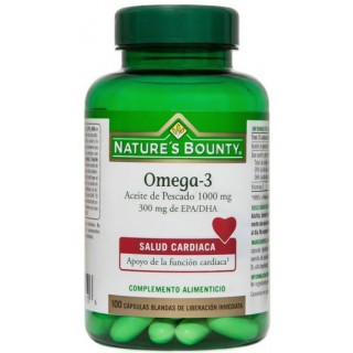 NATURES BOUNTY OMEGA-3 300MG 100 CAPSULAS