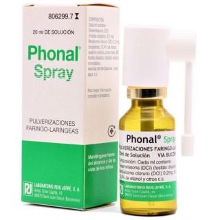 PHONAL SPRAY SOLUCION PARA PULVERIZACION CUTANEA 1 ENVASE 20 ml