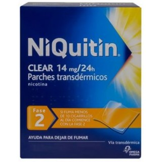 NIQUITIN CLEAR 14 MG/24 H 28 PARCHES TRANSDERMICOS 78 MG