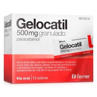 GELOCATIL 500 MG 12 SOBRES GRANULADO ORAL
