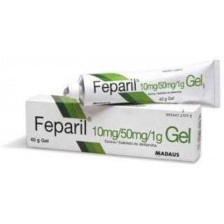 FEPARIL 10 mg/g + 50 mg/g GEL CUTANEO 1 TUBO 40 g