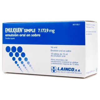 EMULIQUEN SIMPLE 7173,9 mg EMULSION ORAL 10 SOBRES 15 ml