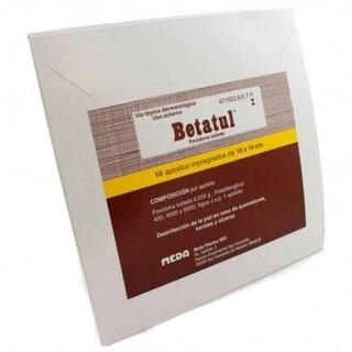 BETATUL 250 mg 10 APOSITOS IMPREGNADOS