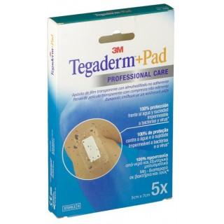 TEGADERM + PAD APOSITO ESTERIL 5 CM X 7,2 CM 5 U