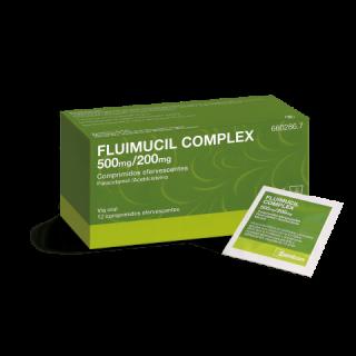 FLUIMUCIL COMPLEX 500 mg/200 mg 12 COMPRIMIDOS EFERVESCENTES