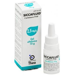 SICCAFLUID 2,5 mg/g GEL OFTALMICO 1 TUBO 10 g