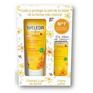 WELEDA SET CALENDULA 2 EN 1 GEL-CHAMPU 200 ML+CREMA PAÑAL 30 ML