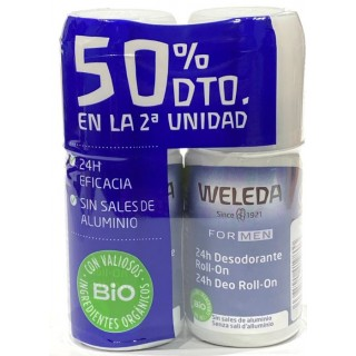 WELEDA DESODORANTE FOR MEN 50 ML DUPLO