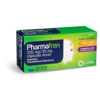 PHARMAFREN 200 mg/30 mg 20 CAPSULAS