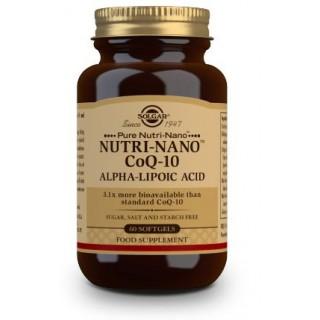 SOLGAR NUTRI-NANO COENZIMA Q10/ACIDO ALFA LIPOICO (ALA) 60 CAPSULAS BLANDAS