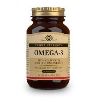 SOLGAR OMEGA-3 TRIPLE CONCENTRACION 50 CAPSULAS BLANDAS