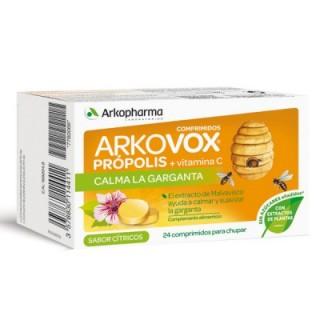 ARKOVOX PROPOLIS + VITAMINA C 24 COMPRIMIDOS MASTICABLES SABOR CITRICOS