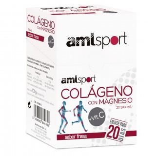 COLAGENO CON MAGNESIO + VIT C AMLSPORT (ANA MARIA LAJUSTICIA) 20 STICKS