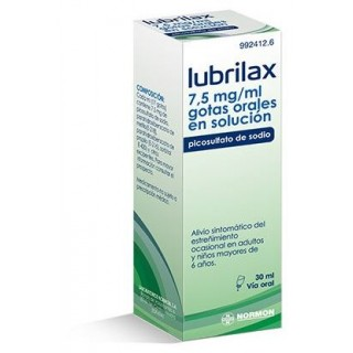 LUBRILAX 7,5 MG/ML GOTAS ORALES EN SOLUCION 1 FRASCO 30 ML