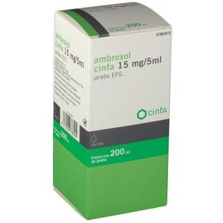 AMBROXOL CINFA EFG 15 mg/5 ml JARABE 1 FRASCO 200 ml (PET)