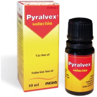 PYRALVEX 10 mg/ml + 50 mg/ml SOLUCION BUCAL 1 FRASCO 10 ml