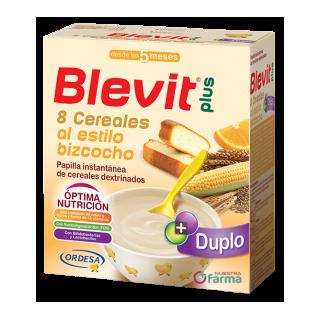 BLEVIT PLUS DUPLO 8 CEREALES AL ESTILO BIZCOCHO 600 G