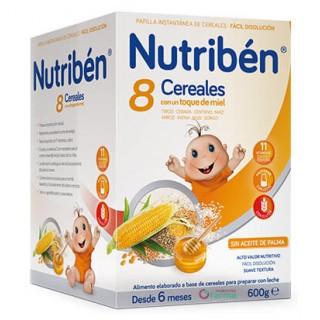 NUTRIBEN CRECIMIENTO 8 CEREALES CON UN TOQUE DE MIEL 600 G