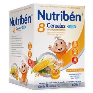 NUTRIBEN 8 CEREALES CON UN TOQUE DE MIEL CALCIO 600 G