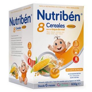 NUTRIBEN 8 CEREALES CON UN TOQUE DE MIEL FIBRA 600 G