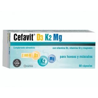CEFAVIT D3 K2 MG 60 CAPSULAS