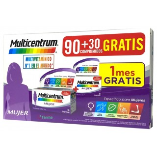 MULTICENTRUM MUJER 90 + 30 COMPRIMIDOS PACK PROMOCIONAL