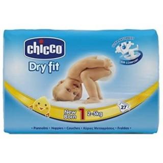 CHICCO PAÑALES DRY FIT (1) 2 - 5KG 27 U