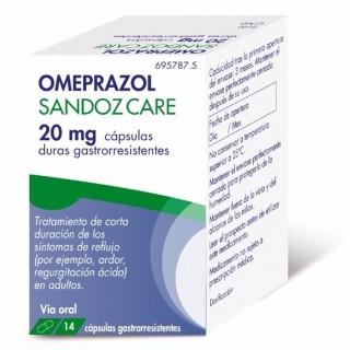 OMEPRAZOL SANDOZ CARE EFG 20 MG 14 CAPSULAS GASTRORRESISTENTES
