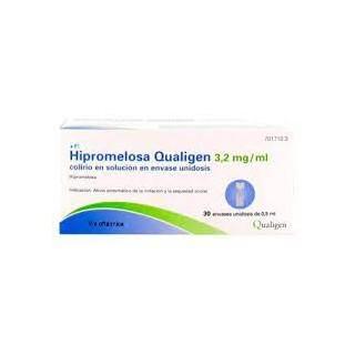 HIPROMELOSA QUALIGEN 3,2 MG/ML COLIRIO EN SOLUCION 30 MONODOSIS 0,5 ML